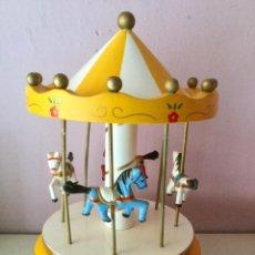 Juegos antiguos: TIOVIVO MUSICAL EN MADERA AMARILLO.. Lote 107205215