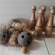 Juegos antiguos: JUEGO BOLOS MADERA AÑOS 50. Lote 109307471