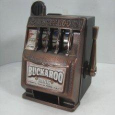 Juegos antiguos: MAQUINA TRAGAPERRAS - BUCKAROO BANK-RADICA GAMES 2001 ¡¡FUNCIONANDO¡¡ TRAGA PERRAS HUCHA. Lote 126219927
