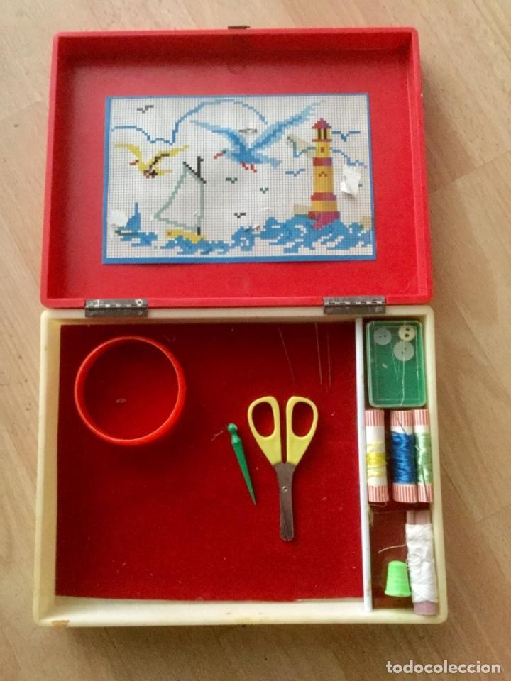 """Juegos antiguos: Costurero """"Vamos a bordar"""" De Cleo Familia Telerín. Años 70 - Foto 2 - 112422867"""