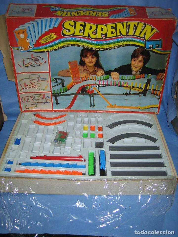 Juegos antiguos: juego de fichas serpentin - Foto 2 - 113704107