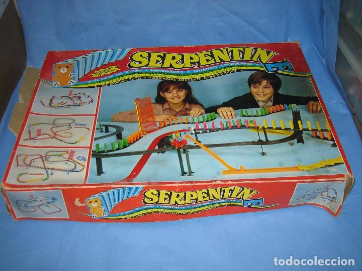 Juegos antiguos: juego de fichas serpentin - Foto 3 - 113704107