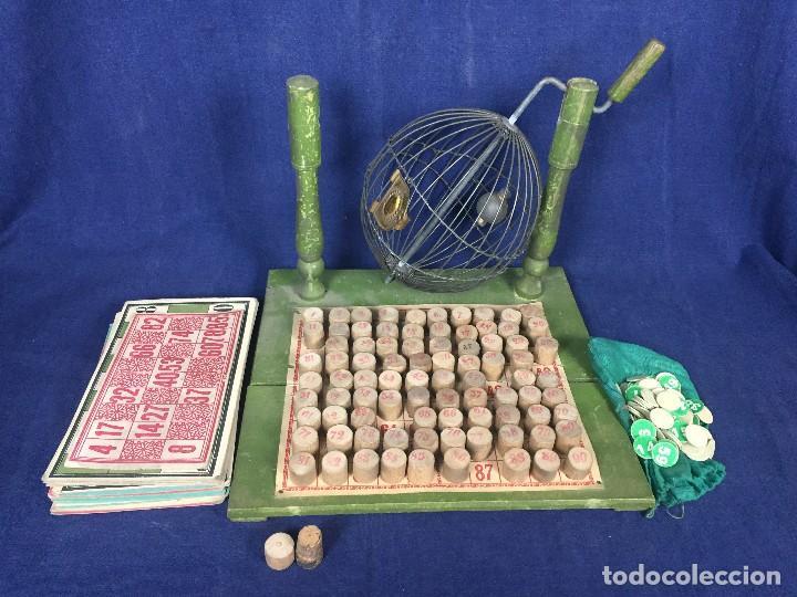 Juegos antiguos: antiguo juego de loto bingo loteria infantil cartones cilindros 1900 25x25x25cms - Foto 4 - 117100351