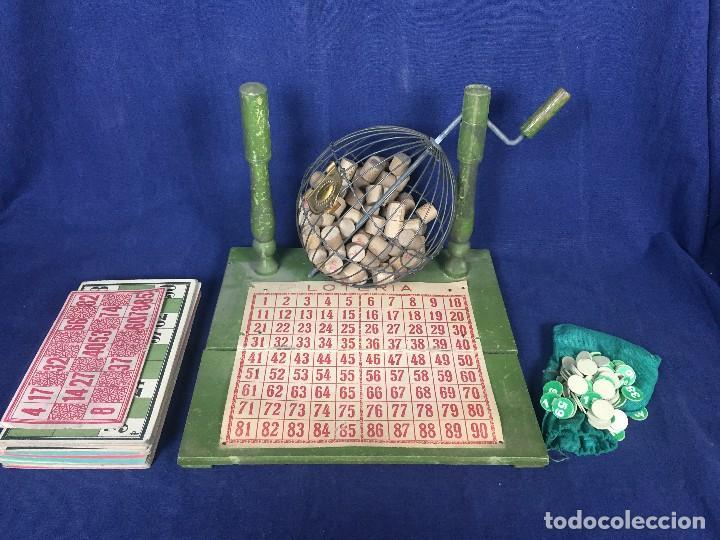 Juegos antiguos: antiguo juego de loto bingo loteria infantil cartones cilindros 1900 25x25x25cms - Foto 7 - 117100351