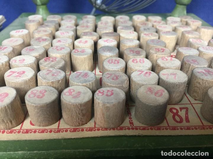 Juegos antiguos: antiguo juego de loto bingo loteria infantil cartones cilindros 1900 25x25x25cms - Foto 11 - 117100351