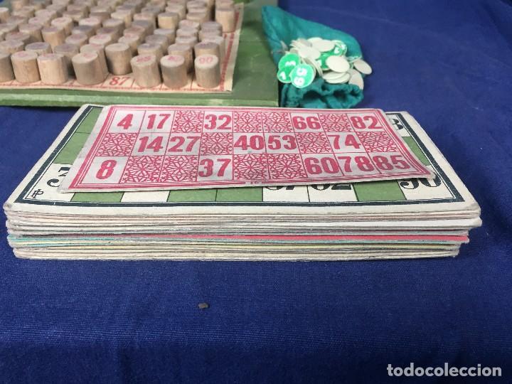 Juegos antiguos: antiguo juego de loto bingo loteria infantil cartones cilindros 1900 25x25x25cms - Foto 17 - 117100351