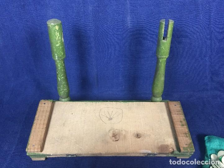 Juegos antiguos: antiguo juego de loto bingo loteria infantil cartones cilindros 1900 25x25x25cms - Foto 27 - 117100351
