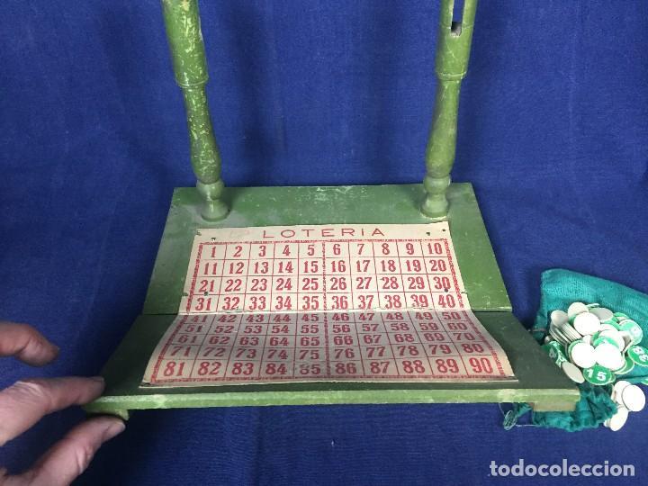 Juegos antiguos: antiguo juego de loto bingo loteria infantil cartones cilindros 1900 25x25x25cms - Foto 29 - 117100351