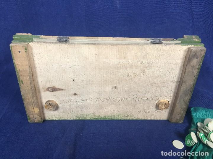 Juegos antiguos: antiguo juego de loto bingo loteria infantil cartones cilindros 1900 25x25x25cms - Foto 35 - 117100351