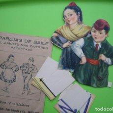 Juegos antiguos: ANTIGUO JUGUETE EN CARTÓN PAREJA DE BAILE N4 CATALANES. Lote 117106067