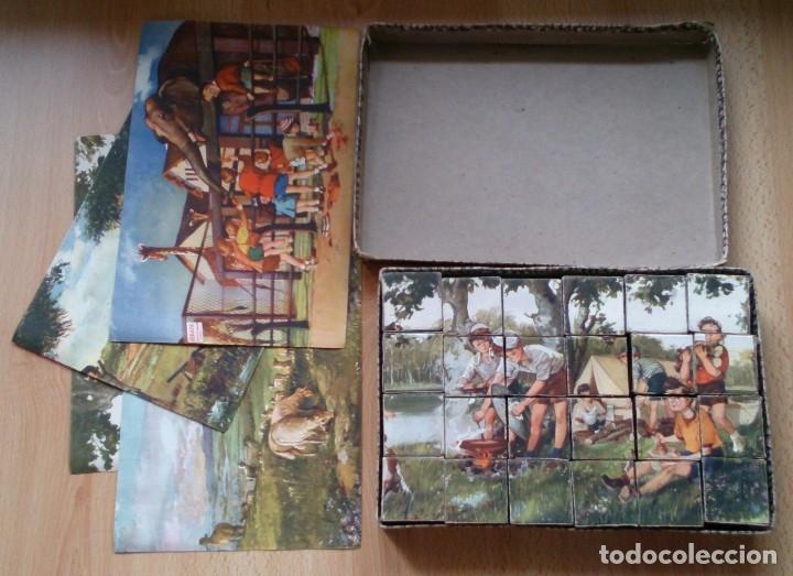 Juegos antiguos: Antiguo juego de cubos rompecabezas Enrique Borras Mataro años 50 - Foto 2 - 117453003
