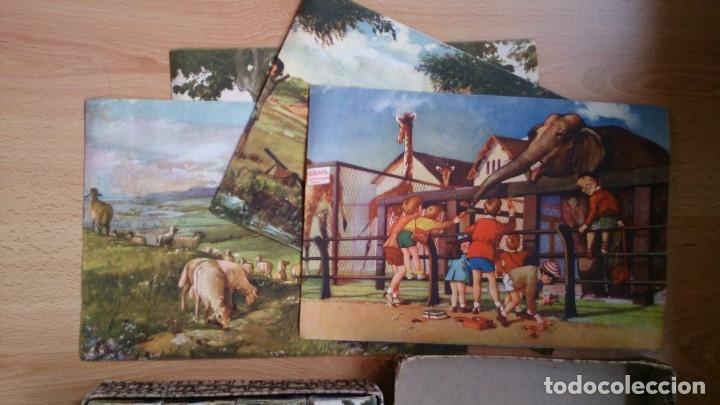 Juegos antiguos: Antiguo juego de cubos rompecabezas Enrique Borras Mataro años 50 - Foto 3 - 117453003