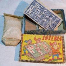 Juegos antiguos: ANTIGUO JUEGO DE LOTERIA, PRECEDENTE DEL BINGO.. Lote 117679639