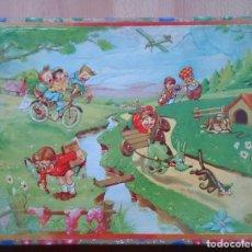 Juegos antiguos: ANTIGUO ROMPECABEZAS JUEGO DE CUBOS DIBUJOS INFANTILES. Lote 119413259