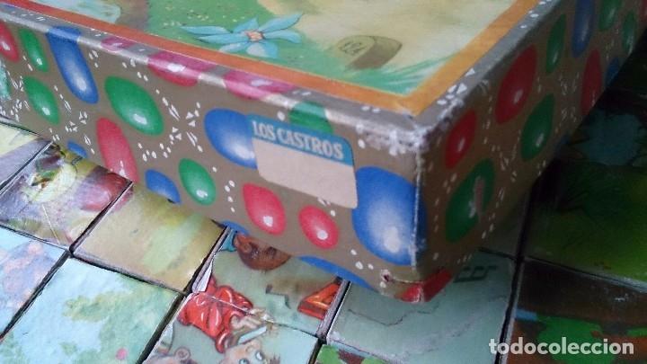 Juegos antiguos: Antiguo rompecabezas juego de cubos dibujos infantiles - Foto 4 - 119413259