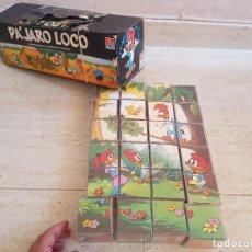 Juegos antiguos: ANTIGUO JUEGO ROMPECABEZAS 24 CUBOS JUGUETE CARLES PLA DALMAU WARNER BROS EL PAJARO LOCO AÑOS 80. Lote 119564523