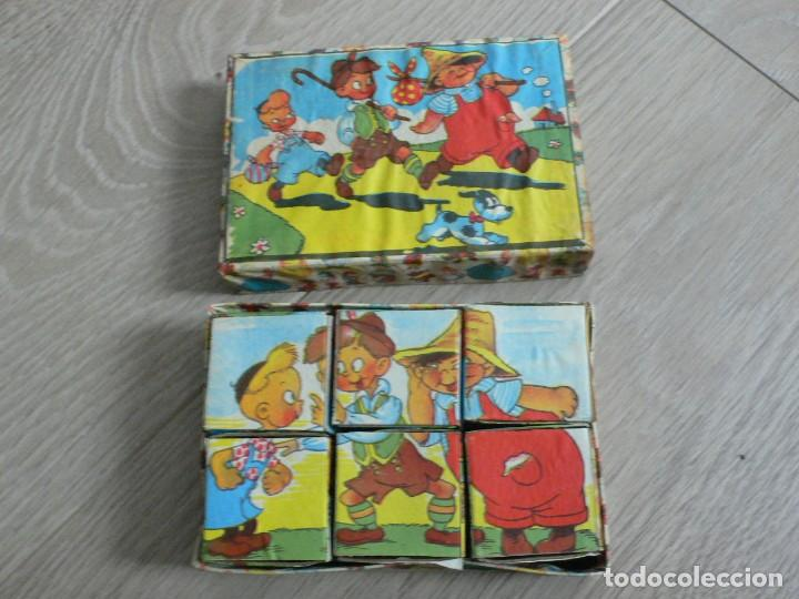 PEQUEÑO JUEGO DE CUBOS DE CARTÓN A ESTRENAR, AÑOS 50 (Juguetes - Juegos - Otros)