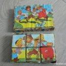 Juegos antiguos: PEQUEÑO JUEGO DE CUBOS DE CARTÓN A ESTRENAR, AÑOS 50. Lote 120070979