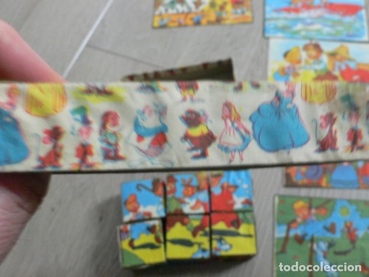 Juegos antiguos: pequeño juego de cubos de cartón a estrenar, años 50 - Foto 4 - 120070979