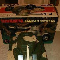 Juegos antiguos: TANQIETA LANZA-VENTOSAS DE LA CAS CLIM AÑOS 1970 . Lote 122185323