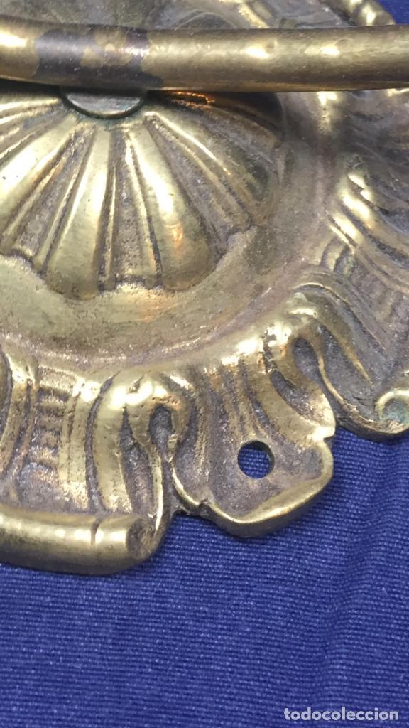 Juegos antiguos: aro laton con roseton para fijar a pared juego canasta o similar ppio s xx 1900 43x39,5cms - Foto 7 - 122260183