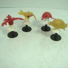 Juegos antiguos: 4X JUGUETE SALTARIN VENTOSA - ANIMALES GOMA - KIOSKO AÑOS 80 - CHUPONA - MUELLE SALTARINES. Lote 122708863