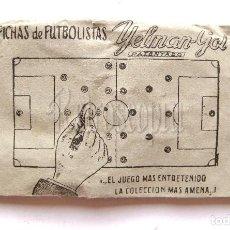Juegos antiguos: SOBRE CON FICHAS DE FUTBOLISTAS. JUEGO DE FUTBOL YELMAN GOL AÑOS 50 - 60 (SIN ABRIR). Lote 126907423