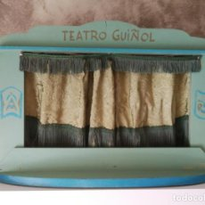 Juegos antiguos: ANTIGUO TEATRILLO GUIÑOL DE MADERA HECHO A MANO. Lote 131664606
