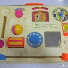 Juegos antiguos: ANTIGUO JUEGO INFANTIL DE BEBE. ACTIVITY CENTER DE FISHER PRICE. EL DE LA FOTO. Lote 131990750