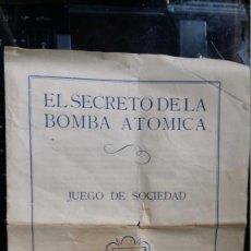 Juegos antiguos: EL SECRETO DE LA BOMBA ATÒMICA. Lote 133836286
