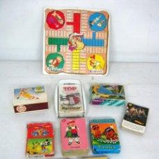 Juegos antiguos: LOTE JUEGOS INFANTILES ANTIGUOS AÑOS 80 - CARTAS BARAJAS PUZZLES PARCHIS. Lote 134865298