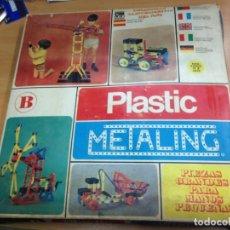 Juegos antiguos: JUEGO CONSTRUCCION PLASTIC METALING CAJA B CON INSTRUCCIONES. Lote 139279860