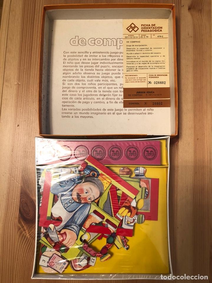 Juegos antiguos: Juego puzzle de compras en la charcutería educa 79 - Foto 2 - 104104794