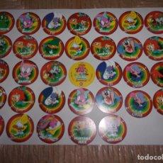 Juegos antiguos: LOTE DE 33 TAZOS DE MEGA TAZO DE TINY TOON - MATUTANO.. Lote 135999122