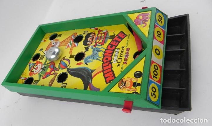 Juegos antiguos: JUGUETE MILLONCETE DE AIRGAM, CIRCO. REF. 905/00. A LOS MANDOS HAY QUE PONERLE LAS GOMAS PARA QUE FU - Foto 3 - 136446710