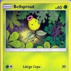 Juegos antiguos: BELLSPROUT BASICO LATIGO CEPA CARTA COLECCIONABLE POKEMON ORIGINAL ESPIRITUAZUL. Lote 137242998