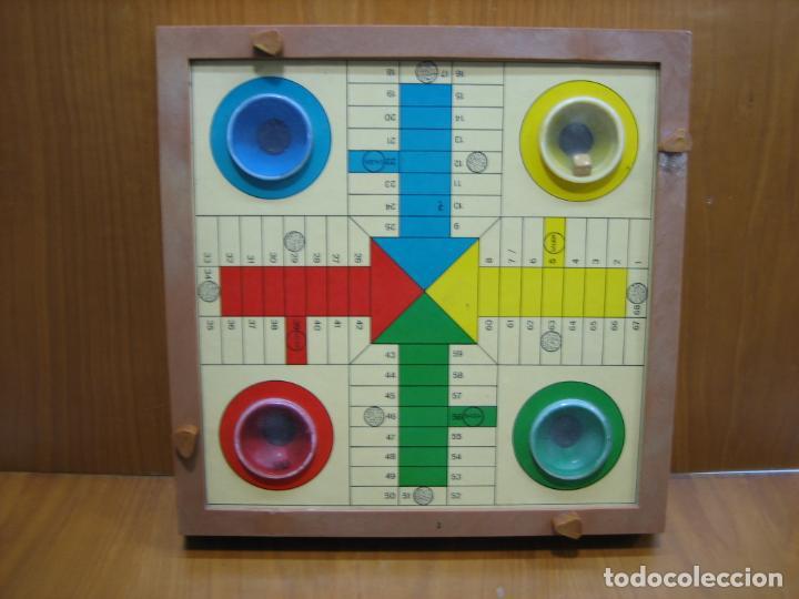 Juegos antiguos: Antiguo juego de mesa Parchis - Foto 3 - 138669502