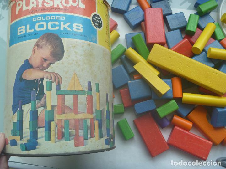 Juegos antiguos: ANTIGUO CUBO DE PIEZAS DE CONSTRUCCION DE PLAYSKOOL , BLOCKS. ORIGINAL AMERICANO, 1972, MADE IN USA - Foto 5 - 139295594
