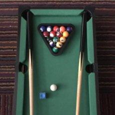 Juegos antiguos: MINI BILLAR POOL TABLE. Lote 139829142