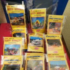 Juegos antiguos: LOTE 10 SET DE CONSTRUCCIÓN MARCA ATCO AÑOS 80 SPACE ADVENTURES Y CITY SERIES. Lote 141889893