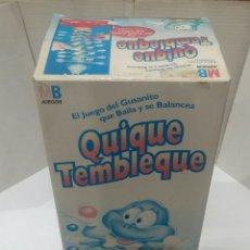 Juegos antiguos: QUIQUE TEMBLEQUE MB. NUEVO. SIN ESTRENAR. 1992. COMPLETO.. Lote 142934434