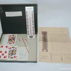 Juegos antiguos: JUEGO DE MAGIA THERMO CARTES, TERMO CARTAS, CON SUS INSTRUCCIONES ORIGINALES EN FRANCES, TERMOMETRO . Lote 143369410