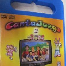 Juegos antiguos: CANTAJUEGOS 2 - CD + DVD - JUEGOS MUSICALES. Lote 144907274