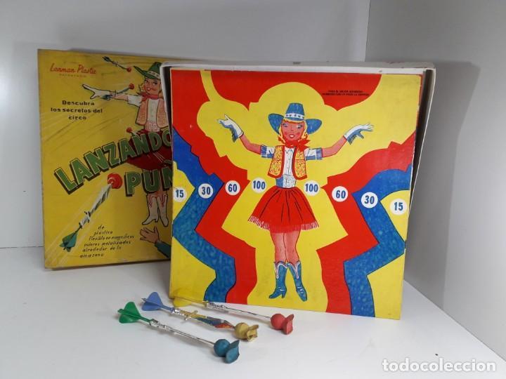 Juegos antiguos: Antiguo juguete Lanzando puñales de lanman plastic - Foto 4 - 147139702