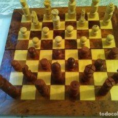 Juegos antiguos: JUEGO AJEDREZ Y BACKGAMMON EN CAJA DE MADERA. Lote 148055802