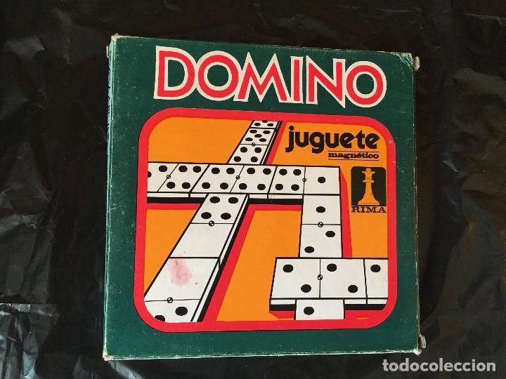 Juegos antiguos: Juego magnético Rima Dominó. Años 80 - Foto 2 - 150566282