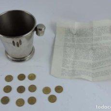 Juegos antiguos: JUEGO DE MAGIA CUBO CHAMPAN MONEDAS, CLASICO EFECTO DEL CUBO DE APARICION MONEDAS.INVENTADO POR EL P. Lote 150735298
