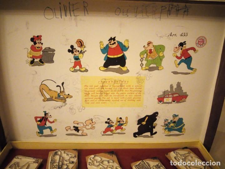 Juegos antiguos: WALT DISNEY MADE IN ITALY MILANO MULTI PRINT,MICKEY MAUS,PLUTO SELLOS DE CAUCHO PARA PINTAR DIBUJOS - Foto 6 - 151620722