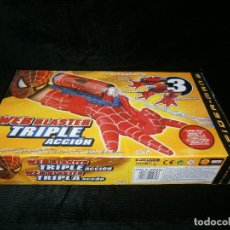 Juegos antiguos: SPIDER MAN ACCIÓN - 3 ACCESORIOS -AGIA-MISILES-RELARAÑA DE TOYS BIZ . Lote 151849834