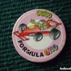 Juegos antiguos: TAZO EL JUEGO DE QUICO DE BANCAJA - FÓRMULA UNO. Lote 152566450
